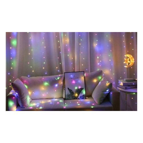 Lichtervorhang für Fenster: 300 lED / 1/ Weißlicht