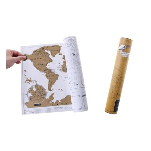 Weltkarte zum Rubbeln: 2