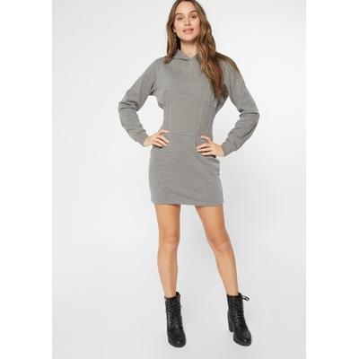 Rue21 Womens Gray Corset Hoodie Dress - Size S