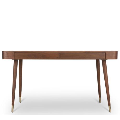 Schreibtisch Holz Nussbaum | Vinyle