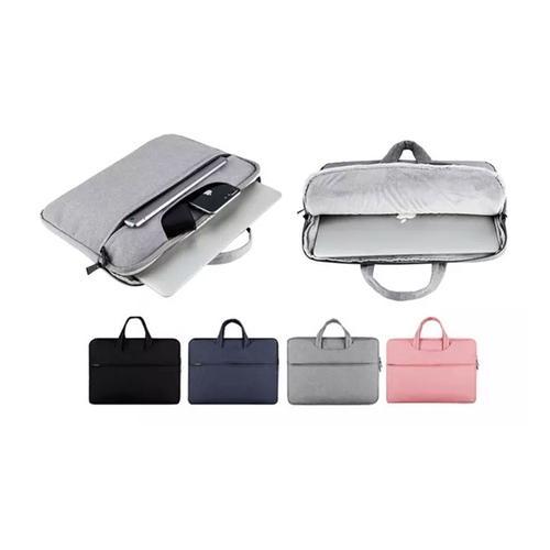 Laptop-Tasche: Schwarz + Rosa/ 14