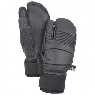Hestra - Leather Fall Line 3 Finger - Handschuhe Gr 9 schwarz/grau