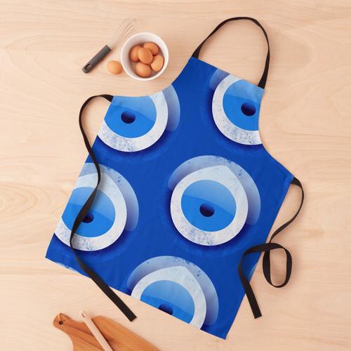 Böses Auge Charme blaues Motiv guter Karma-Schutz Schürze