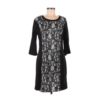 Como Vintage Casual Dress - Sheath: Black Color Block Dresses - Used - Size Medium