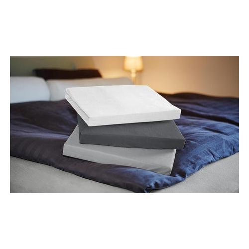 Jersey-Spannbettlaken: Weiß / 140-160 x 200 cm / 1