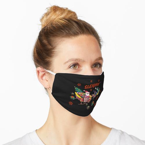 Schlittenfahren Es Santa Schlitten Maske