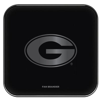 """Georgia Bulldogs Black Fast Charging Glass Wireless Charge Pad"""