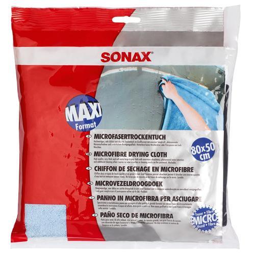 1x Sonax Microfaser Trockentuch Waschbar Autowäsche Autotrcknung Abtrocknen
