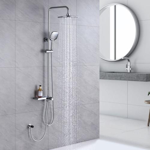 Lonheo Regendusche Duschsäule Duschset Duschsystem mit Höhenverstellbare Duschstange für