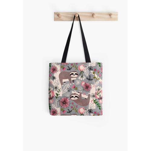 Lovable Sloths All Over Print Tote Bag