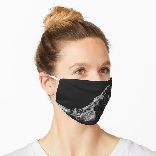 Schwarz-Weiß-Sonne beleuchtete Berg Maske