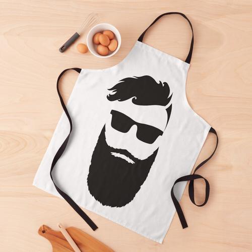 Hipster Bart & Brille Schürze