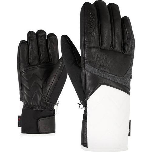 ZIENER Damen Handschuhe KRISTALL AS(R) AW, Größe 8 in white