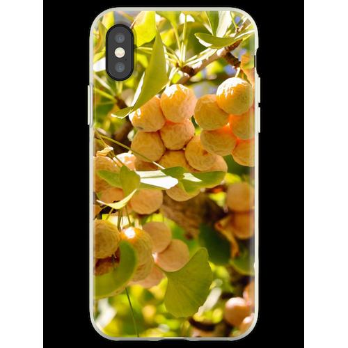 Ginkgobaum mit Obst Flexible Hülle für iPhone XS