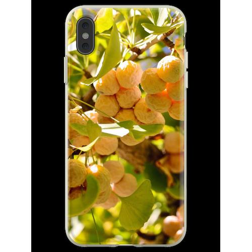 Ginkgobaum mit Obst Flexible Hülle für iPhone XS Max