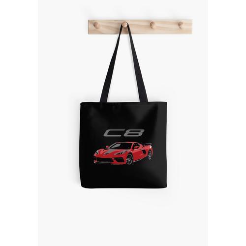 Roter Chevy Corvette C8 Mittelmotor Tasche