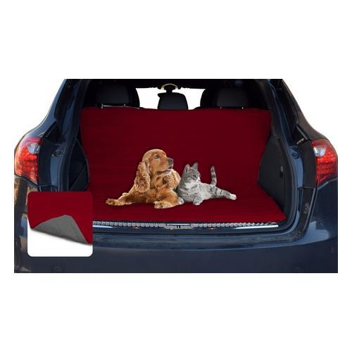 Zweiseitige Autositzdecke: Rot-Royal