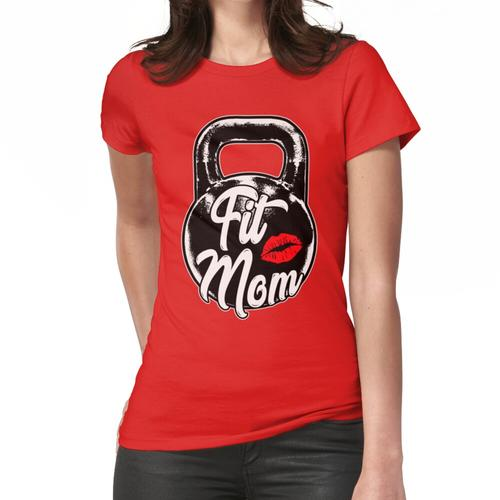 Kettlebell Fit Mom Gym Training Frauen T-Shirt