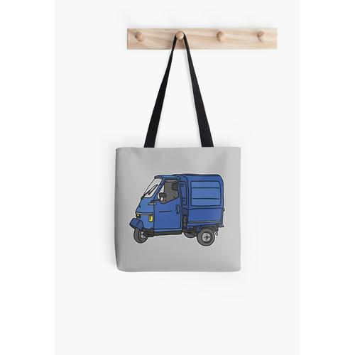 Blauer Dreirad Kleintransporter Tasche