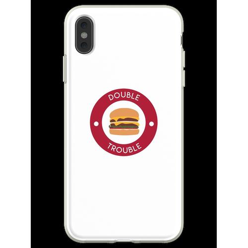 Doppelter doppelter Burger Flexible Hülle für iPhone XS Max