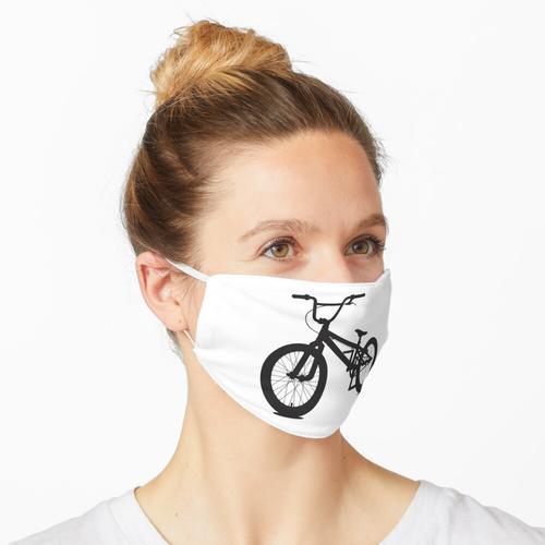 BMX BIKE. Offroad-Sportfahrrad. Stuntreiten. Maske