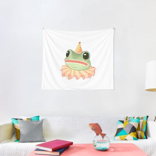 Clown Frog Wall Tapestry