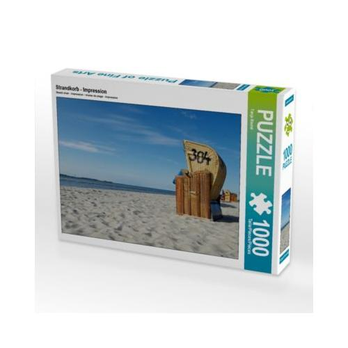 Strandkorb - Impression Foto-Puzzle Bild von Tanja Riedel Puzzle