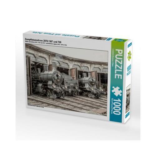 Dampflokomotiven 2978,1367 und 705 Foto-Puzzle Bild von Liselotte Brunner-Klaus Puzzle