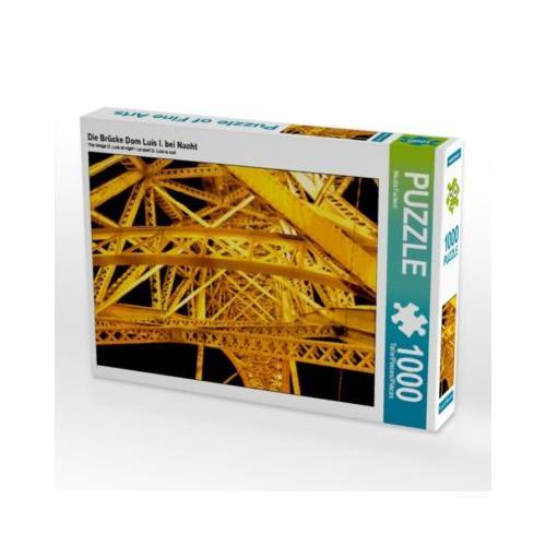 Die Brücke Dom Luís I. bei Nacht Foto-Puzzle Bild von Nicola Furkert Puzzle