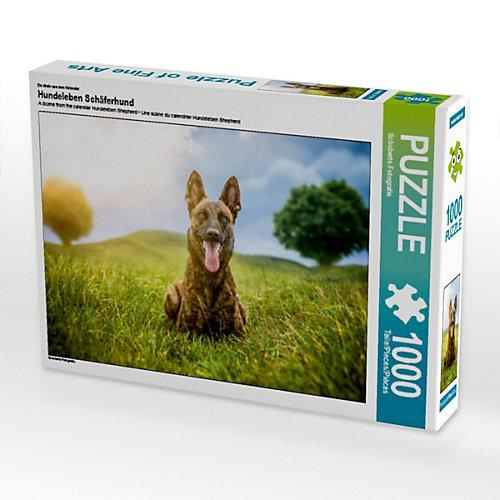 Hundeleben Schäferhund Foto-Puzzle Bild von Schuberts-Fotografie Puzzle