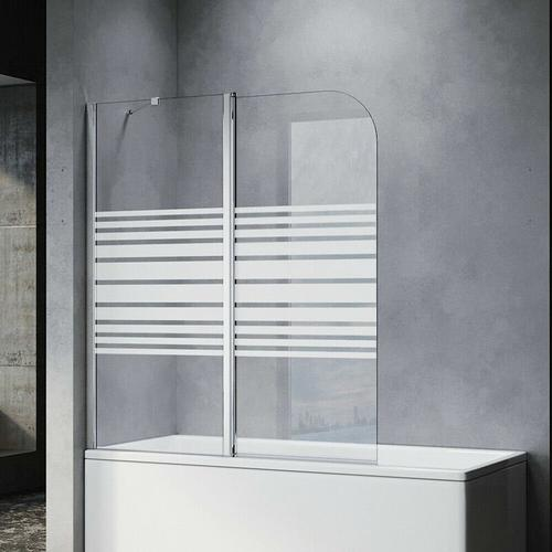 Badewannenaufsatz Dusche Badewannenfaltwand Glas Duschwand für badewanne 2-teilig