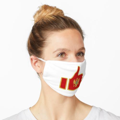 Fahnen-Daumen von Montenegro Maske
