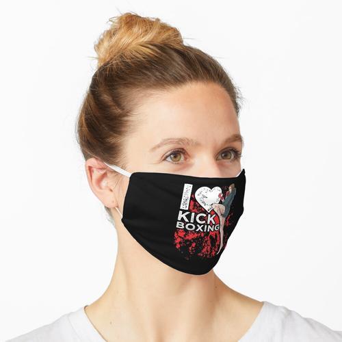 Mädchen Kickboxer kickboxen i love kickboxing Maske