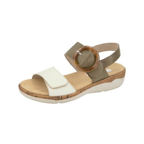 Sandale Remonte Khaki::Creme-Weiß