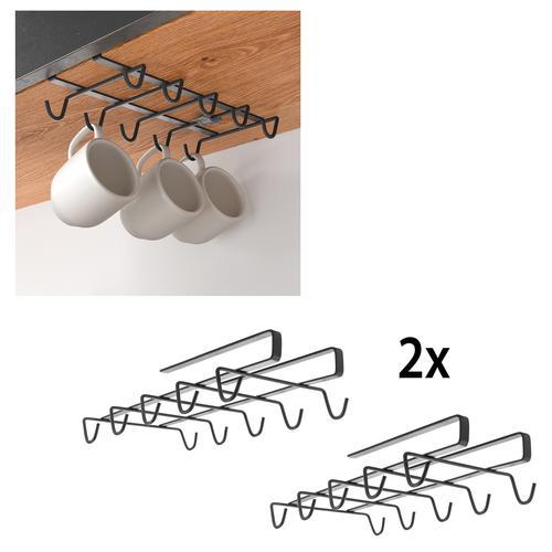 Metaltex Einhängekorb, (2 St.), für 10 Tassem schwarz Aufbewahrung Ordnung SOFORT LIEFERBARE Wohnaccessoires Einhängekorb