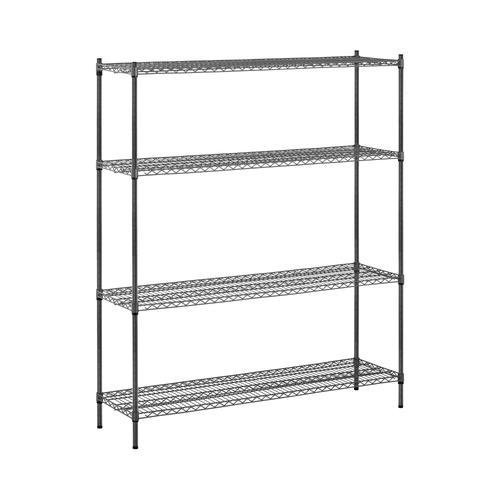 MSW Metallregal - 150 x 45 x 180 cm - 1.000 kg - grau MSW-1800P02