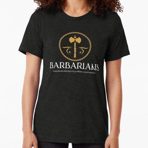 Barbarian Barbarians Tabletop RPG Addict Tri-blend T-Shirt