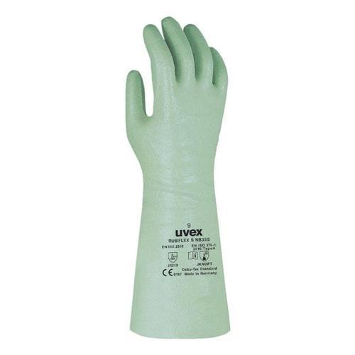 Unisex Arbeitshandschuhe »Profas Rubiflex NB 35« Größe 8 grün, UVEX