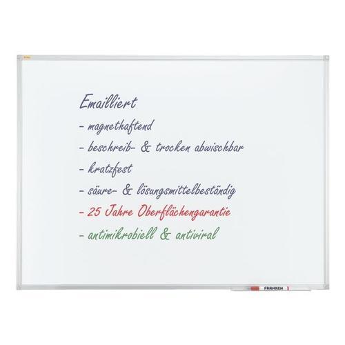 Whiteboard »X-tra! Line«, emailliert, 200 x 100 cm, antimikrobiell weiß, Franken