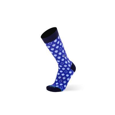 Men's Big & Tall The Dreidels Socks by TallOrder in Blue (Size 9-11)