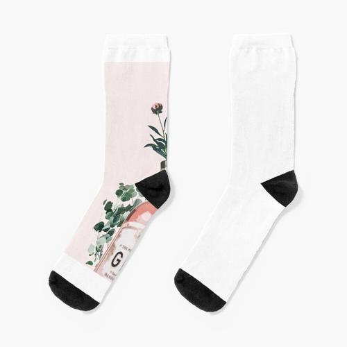 Rosa Gin Artwork Socken