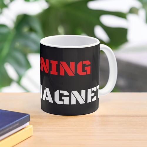 Warning Shit Magnet Mug