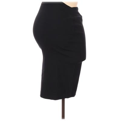 Motherhood Casual Skirt: Black Solid Bottoms - Size Small Maternity