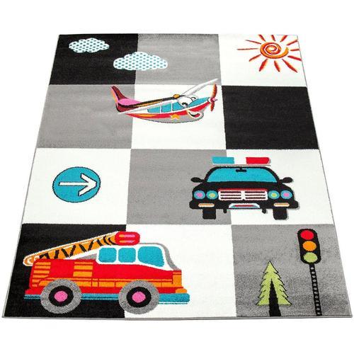 Kinderteppich »ECE 998«, Paco Home, rechteckig, Höhe 14 mm, Kurzflor mit Verkehrsmittel Motiven, Kinderzimmer