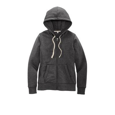 District DT8103 Women's Re-Fleece Full-Zip Hoodie in Charcoal Heather size 2XL