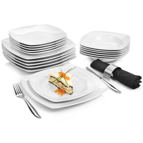 SÄNGER Tafelservice Markant, (18 tlg., Markant aus Porzellan 18 teilig) weiß Geschirr-Sets Geschirr, Tischaccessoires Haushaltswaren