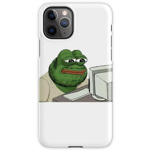 Nerd Pepe der Frosch, Fat Pepe der Frosch, Freak Pepe der Frosch, Internet iPhone 11 Pro Handyhülle