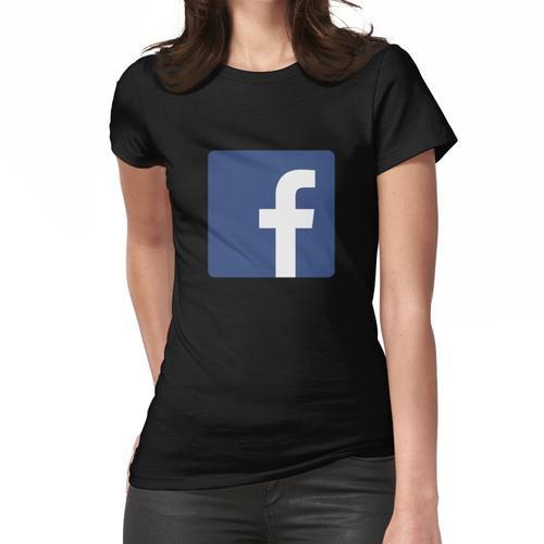 Facebook Logo Icon Geschenk für Facebook Fan Frauen T-Shirt
