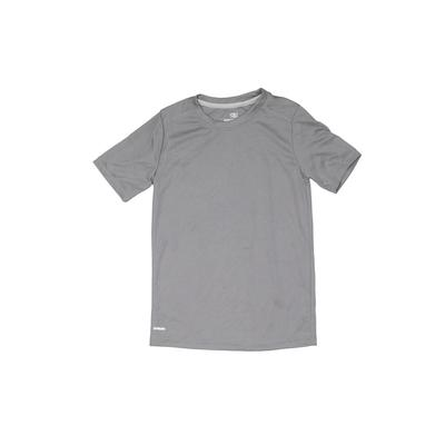Athletic Works Active T-Shirt: Gray Solid Sporting & Activewear - Size 6