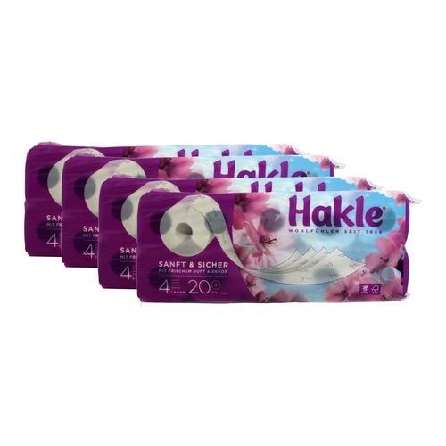 4x Hakle sanft & sicher 4-lagig 20 x 130 Blatt